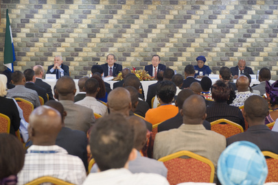Secretary-General Holds Town Hall Meeting with UN Staff in Sierra Leone