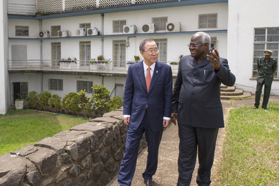 Secretary-General Meets President of Sierra Leone