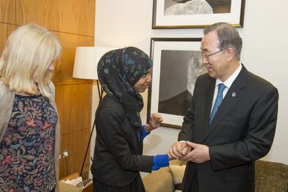 Secretary-General Meets Campaigner Against Female Genital Mutilation