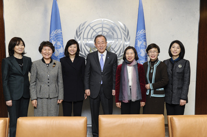 Secretary-General Meets Gender Minister of Republic of Korea