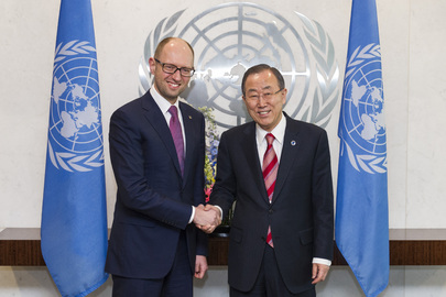 Secretary-General Meets Prime Minister of Ukraine
