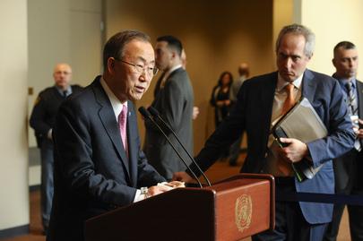 Secretary-General Briefs Media on Syria