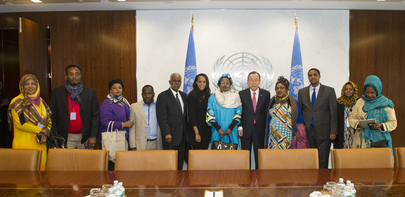 Secretary-General Meets Women and Human Rights Minister of Somalia