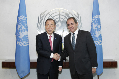 Secretary-General Meets New Representative of Algeria