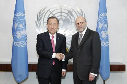 Secretary-General Meets New Representative of Germany