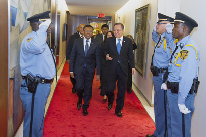 Secretary-General Meets President of Madagascar