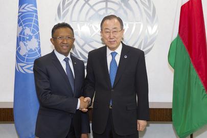 Secretary-General Meets President of Madagascar