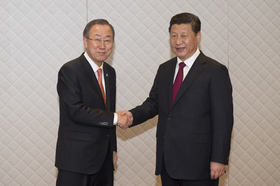 Secretary-General Meets Chinese President at The Hague