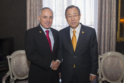 Secretary-General Meets Israeli Minister of Strategic Affairs