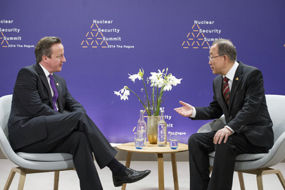 Secretary-General Meets UK Prime Minister at The Hague