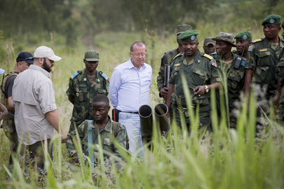 Head of MONUSCO Visits FIB and Government Troops in Eastern DRC