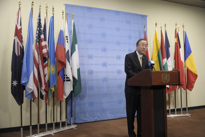 Secretary-General Briefs Press on Ukraine