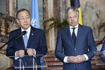 Secretary-General Meets Foreign Minister of Belgium