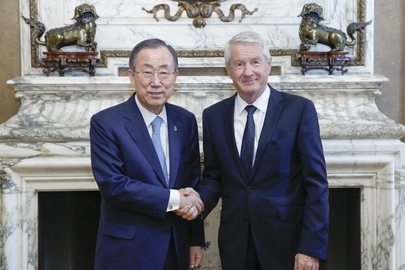 Secretary-General Meets Head of Council of Europe