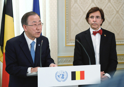 Secretary-General Meets Prime Minister of Belgium