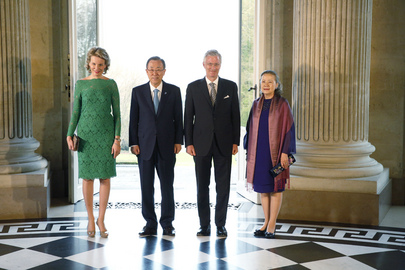 Secretary-General Meets King and Queen of Belgium