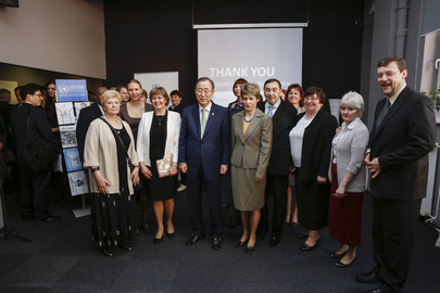 Secretary-General Visits UN Information Centre, Prague