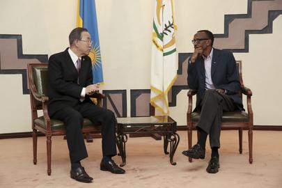 Secretary-General Meets President of Rwanda in Kigali