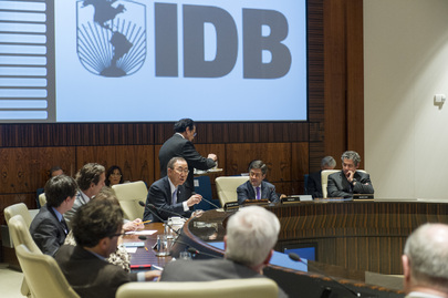 Secretary-General Meets IDB Board of Directors