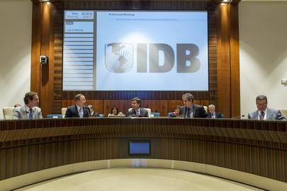 Secretary-General Meets IDB Board of Directors