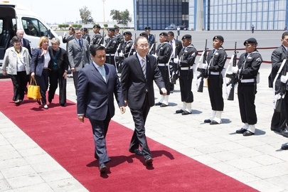 Secretary-General Arrives in Mexico City