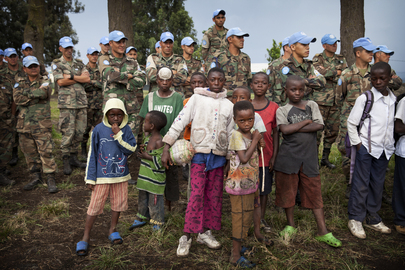 MONUSCO Peacekeepers Help Launch Soccer Schools in Goma, DRC