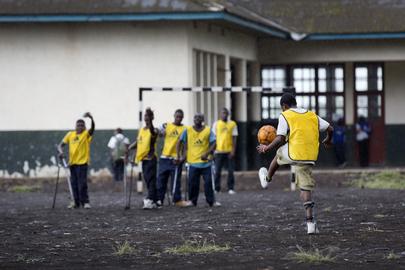 MONUSCO Peacekeepers Help Launch Soccer Schools in Goma, DRC