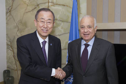 Secretary-General Meets Head of Arab League in Abu Dhabi