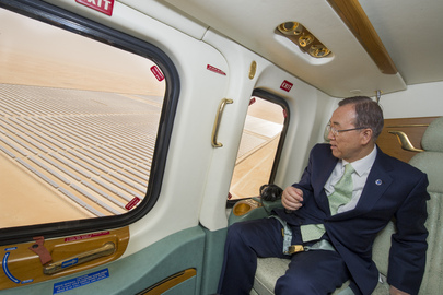 Secretary-General Visits Shams Solar Power Plant, Abu Dhabi