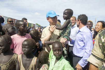 Secretary-General Visits Tomping Civilian Protection Site, Juba