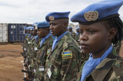 Integrantes ruandeses das Forças de Paz da ONU no Sudão do Sul. Foto: ONU/Isaac Billy