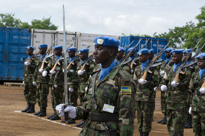 Rwandan Peacekeepers at UNMISS Tomping Base, Juba