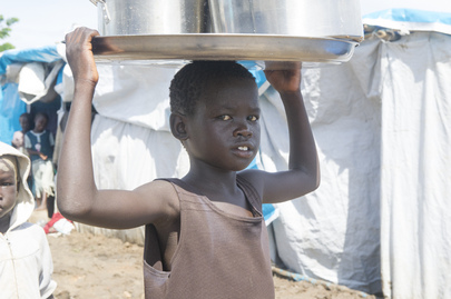Child at Tomping Civilian Protection Site, Juba