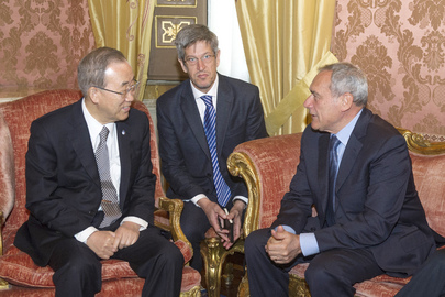 Secretary-General Meets President of Italian Senate