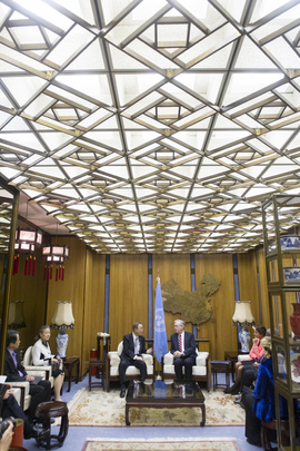 Secretary-General Meets Deputy Head of FAO