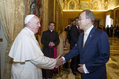 Secretary-General, CEB Members Have Audience with Pope Francis