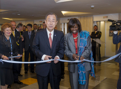 Secretary-General Visits WFP Headquarters, Inaugurates OPSCEN
