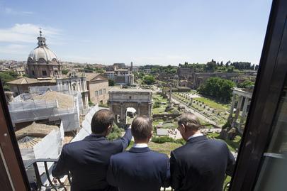 Secretary-General Meets Mayor of Rome