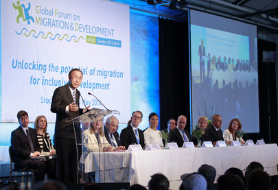 UN Chief Addresses Global Forum on Migration and Development