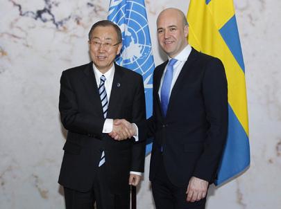 Secretary-General Meets Swedish Prime Minister