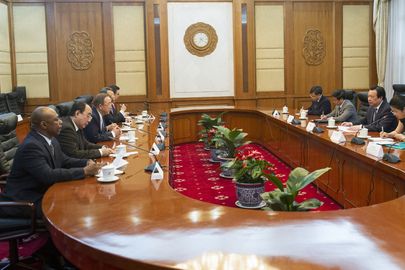 Secretary-General Meets Vice Chair of Chinese National Development and Reform Commission