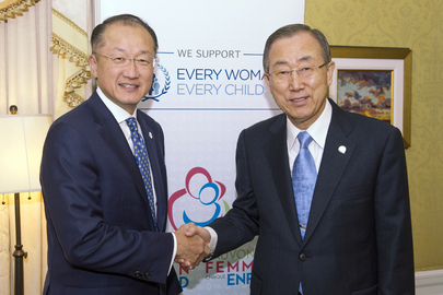 Secretary-General Meets President of World Bank in Toronto