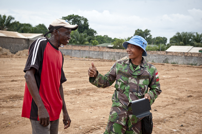 Indonesian Peacekeeper in Central African Republic