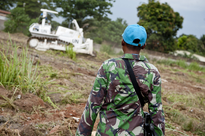 Indonesian Peacekeepers Helping Build MINUSCA Compound in Bangui, CAR