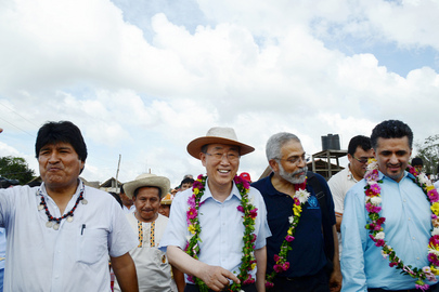 Secretary-General Visits Santa Rita Community, Bolivia