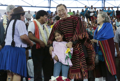 Secretary-General Visits Bolivian Town of El Torno