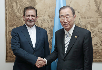 Secretary-General Meets First Vice President of Iran