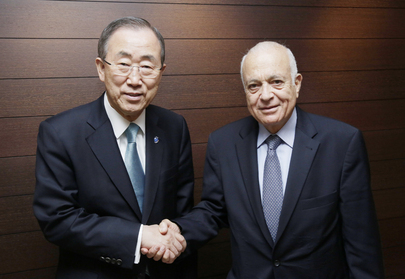 Secretary-General Meets with Head of League of Arab States in Geneva