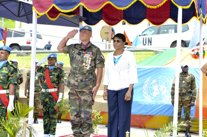 Farewell Ceremony for UNOCI Force Commander
