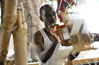 Weaver at Work outside Korhogo, Côte d'Ivoire